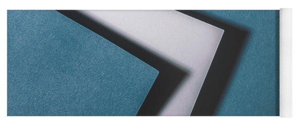 Blue White Blue Yoga Mat