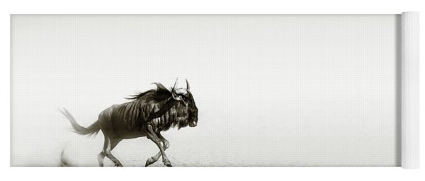 Blue Wildebeest In Desert Yoga Mat