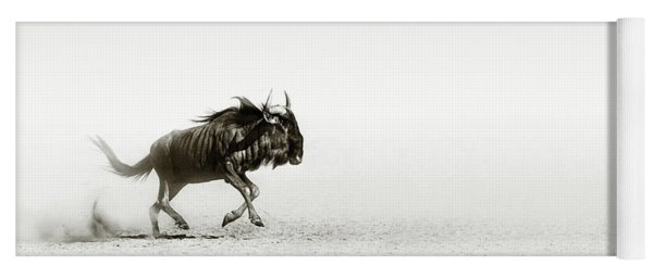 Blue Wildebeest In Desert Yoga Mat