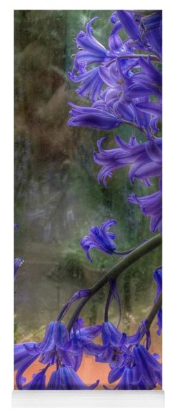 Bluebells In My Garden Window Yoga Mat