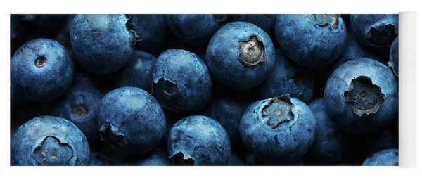 Blueberries Background Close-up Yoga Mat