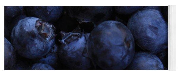 Blueberries Close-up - Horizontal Yoga Mat