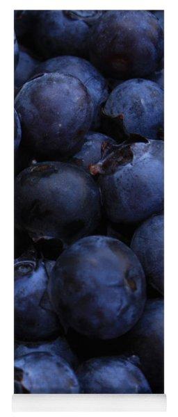 Blueberries Close-up - Vertical Yoga Mat