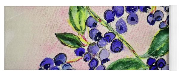 Blueberries Yoga Mat