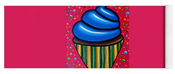 Blueberry Cupcake - Abstract Painting Yoga Mat