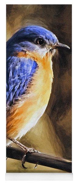 Bluebird Portrait Yoga Mat