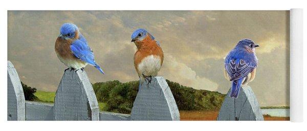 Bluebirds In My Heart Yoga Mat