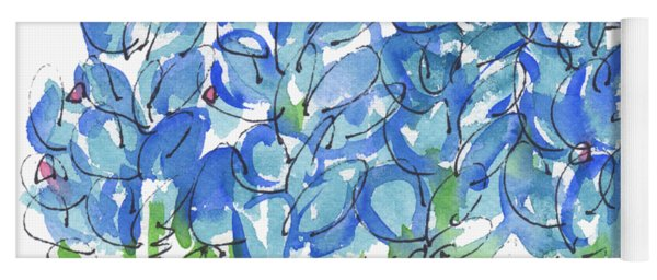 Bluebonnet Dance Watercolor By Kmcelwaine Yoga Mat