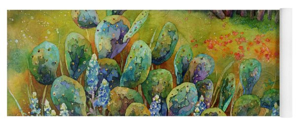 Bluebonnets And Cactus Yoga Mat