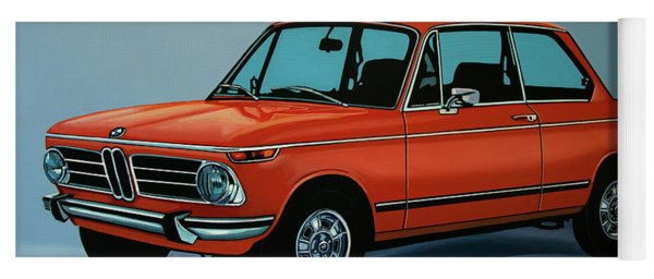 Bmw 2002 1968 Painting Yoga Mat