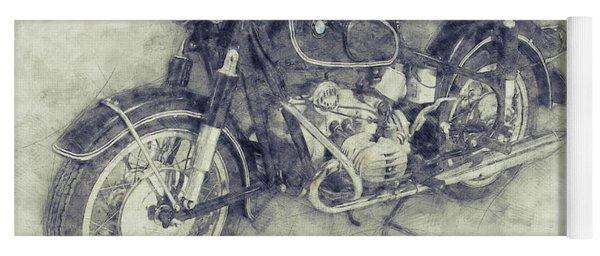 Bmw R60/2 - 1956 - Bmw Motorcycles 1 - Vintage Motorcycle Poster - Automotive Art Yoga Mat