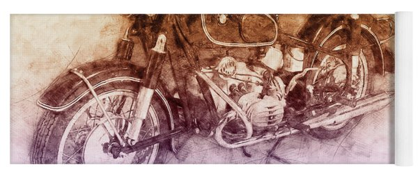 Bmw R60/2 - 1956 - Bmw Motorcycles 2 - Vintage Motorcycle Poster - Automotive Art Yoga Mat