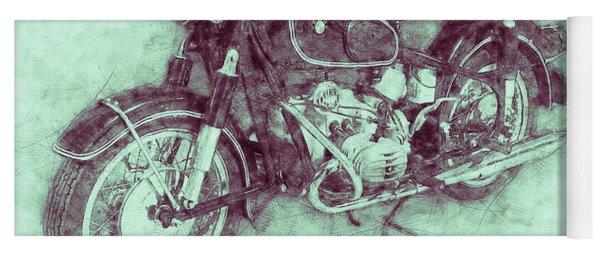 Bmw R60/2 - 1956 - Bmw Motorcycles 3 - Vintage Motorcycle Poster - Automotive Art Yoga Mat