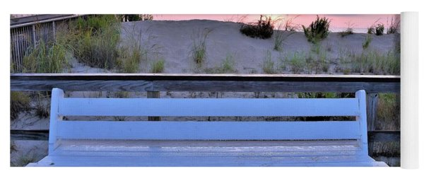 A Welcome Invitation -  The Boardwalk Bench Yoga Mat