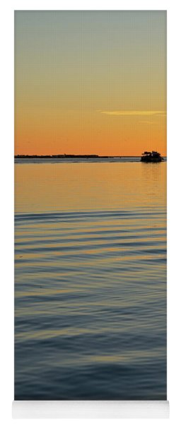 Boat And Dock At Dusk Yoga Mat