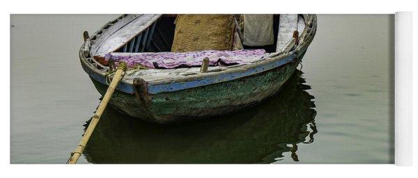 boat at Ganges Yoga Mat