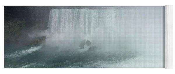 Boat Near Niagara Falls Yoga Mat