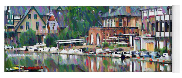 Boathouse Row In Philadelphia Yoga Mat