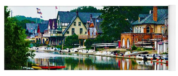 Boathouse Row In Philly Yoga Mat