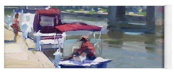 Boats At North Tonawanda Canal Yoga Mat