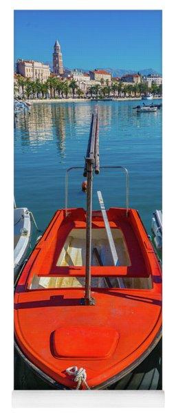 Boats At Rovinj Yoga Mat