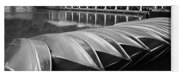 Boats At The Boat House Central Park Yoga Mat