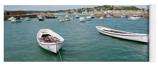 Boats In Habour Yoga Mat
