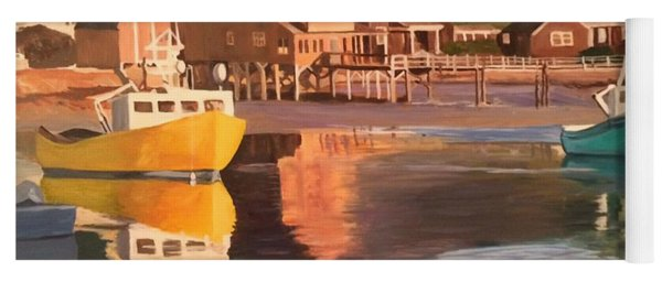 Boats In Kennebunkport Harbor Yoga Mat