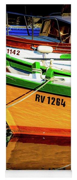 Boats In Rovinj Yoga Mat