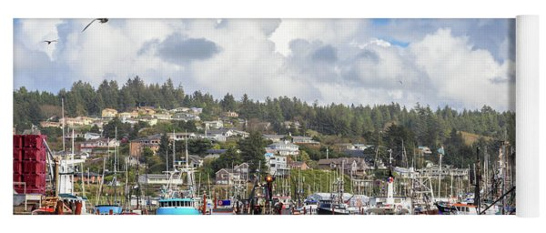 Boats In Yaquina Bay Yoga Mat