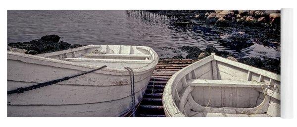 Boats Near Peggys Cove Yoga Mat