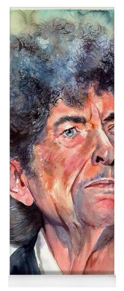 Bob Dylan Watercolor Portrait  Yoga Mat