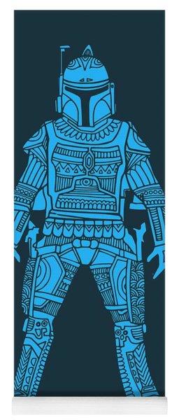 Boba Fett - Star Wars Art, Blue Yoga Mat
