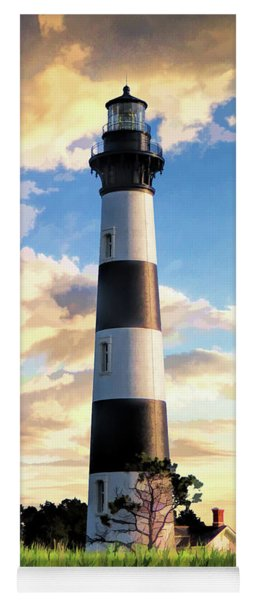 Yoga Mat featuring the painting Bodie Island Lighthouse by Christopher Arndt