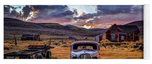 Bodie's 1937 Chevy At Sunset Yoga Mat