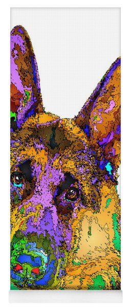 Bogart The Shepherd. Pet Series Yoga Mat