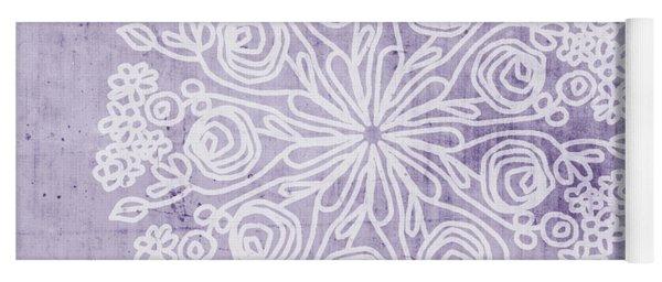 Boho Floral Mandala 1- Art By Linda Woods Yoga Mat