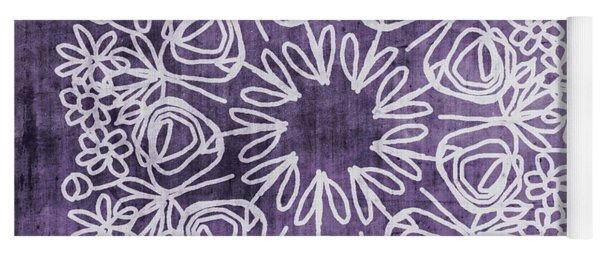 Boho Floral Mandala 2- Art By Linda Woods Yoga Mat