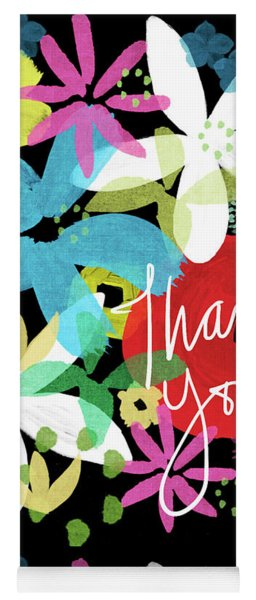 Bold Floral Thank You Card- Design By Linda Woods Yoga Mat