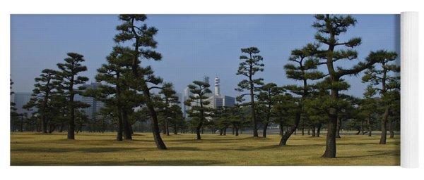 Bonsai Trees And Tokyo Skyscrapers Yoga Mat