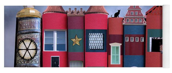 Book Houses Yoga Mat