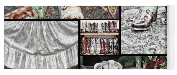 Boot Collage Yoga Mat
