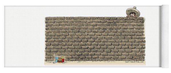 Border Wall Yoga Mat