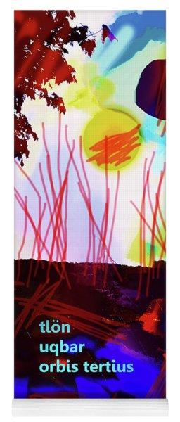 Borges Tlon Poster 2 Yoga Mat