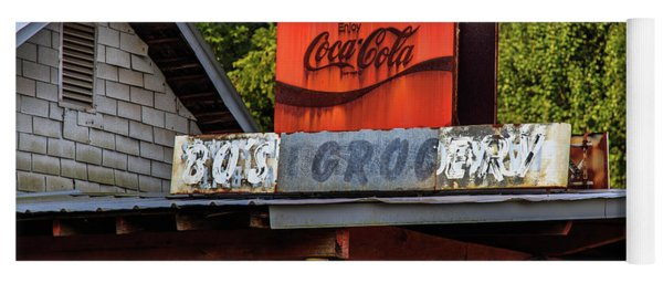 Yoga Mat featuring the photograph Bo's Grocery by Doug Camara