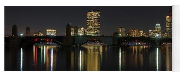 Boston Skyscrappers Behind Bridge Yoga Mat