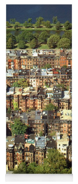 Boston Brownstone Architecture Yoga Mat