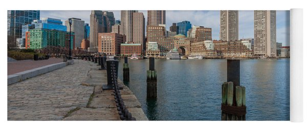Boston Cityscape From The Seaport District 3 Yoga Mat