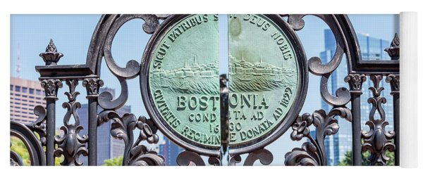 Boston Garden Gate Detail Yoga Mat