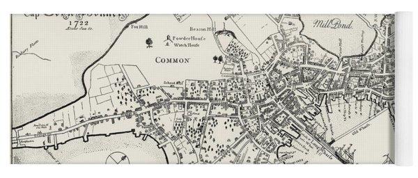 Boston Map, 1722 Yoga Mat